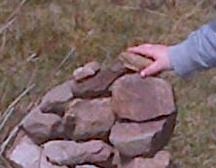 Cairn building by my grandson on Exmoor